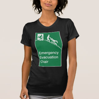 Running Man Wheelchair Evacuation Chair Sign Tees