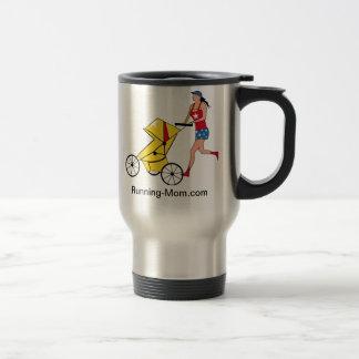Running Mom Coffee 15 Oz Stainless Steel Travel Mug