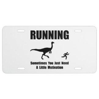 Running Motivation License Plate
