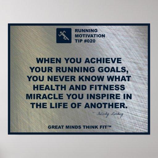 Running Motivation Tip #020 Posters