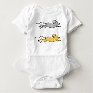 Running Mouse Vector Sketch Baby Bodysuit