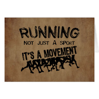 Running Movement Greeting Cards