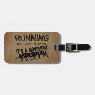 Running Movement Bag Tags