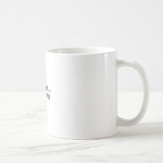 running classic white coffee mug