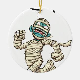 running mummy2 ceramic ornament