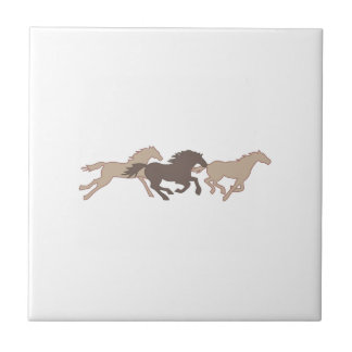 RUNNING MUSTANGS SMALL SQUARE TILE