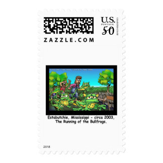 Running Of The Bull Frogs Funny Gifts/Collectibles Postage