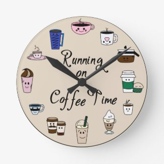 Running on Coffee Time Wall Clock
