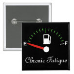 Running on Empty 2 Inch Square Button
