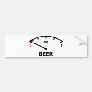 Running On Empty : Beer Bumper Sticker