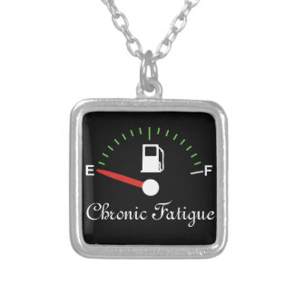 Running on Empty Square Pendant Necklace