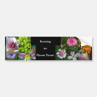 Running on Flower Power by Jocelyn Burke Bumper Sticker