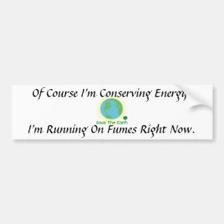 Running on Fumes Fuel Economy Bumper Sticker