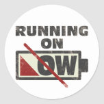 Running On Low Stickers