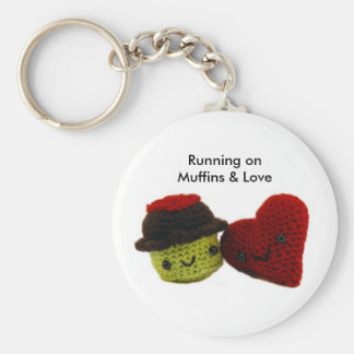 Running on Muffins & Love - Keychain