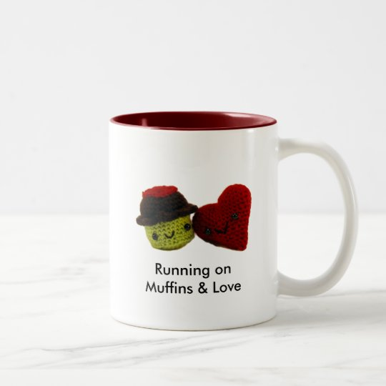 Running on Muffins & Love - Two Tone Mug