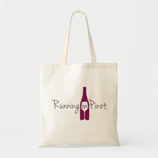 Running on Pinot Canvas Tote
