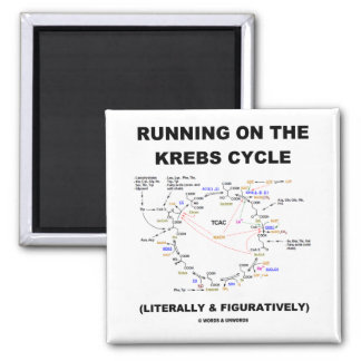 Running On The Krebs Cycle (Science Humor) Fridge Magnets