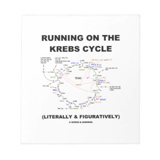 Running On The Krebs Cycle (Science Humor) Notepad