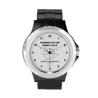 Running On The Krebs Cycle (Science Humor) Wrist Watch