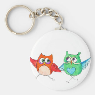 Running owls keychain