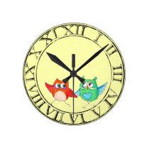 Running owls round clock