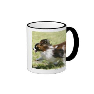 Running Papillon Ringer Coffee Mug