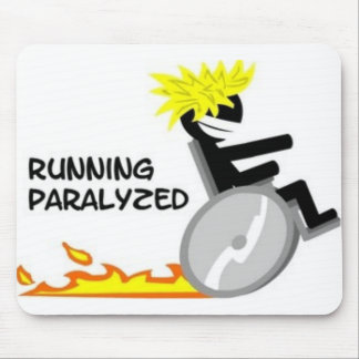 Running Paralyzed logo1 Mouse Pad