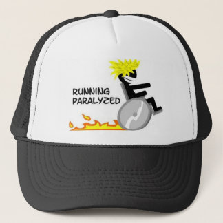 Running Paralyzed logo1 Trucker Hat
