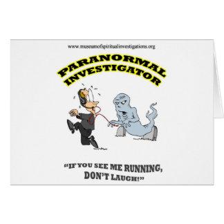Running Paranormal Investigator Card