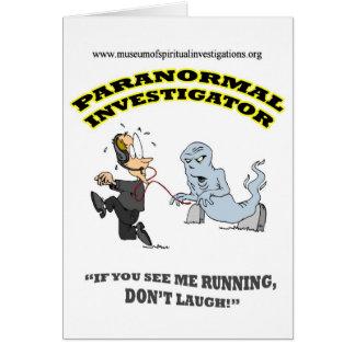Running Paranormal Investigator Greeting Card
