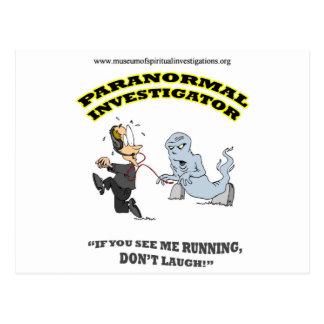 Running Paranormal Investigator Postcard