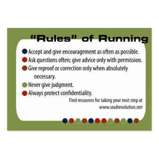 Running Partner Card (chubby card) Large Business Cards (Pack Of 100)