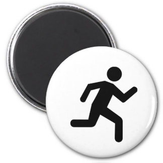 Running person magnet