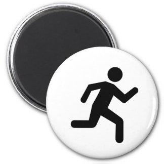 Running person 2 inch round magnet