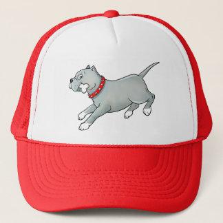 Running Pitbull Dog with Bone - Customise Cap