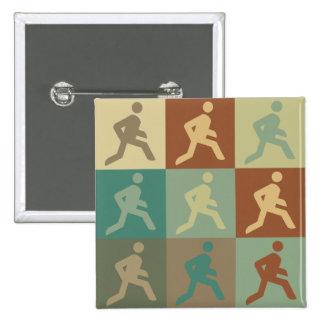Running Pop Art Pins