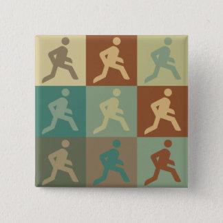 Running Pop Art Pinback Button