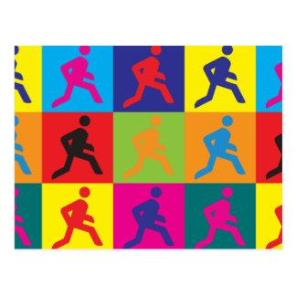 Running Pop Art Postcard