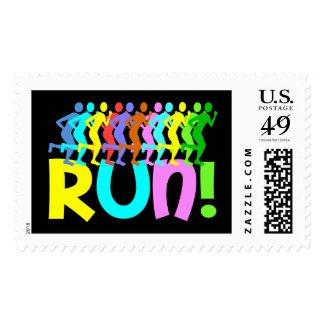 running postage