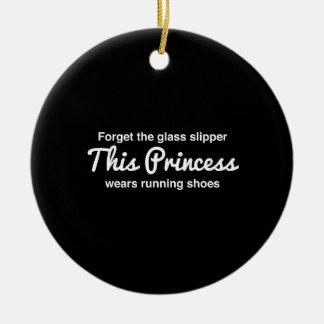 Running Princess Ceramic Ornament