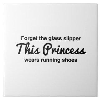 Running Princess Large Square Tile