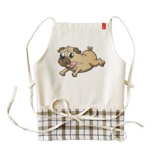 running pug cartoon zazzle HEART apron