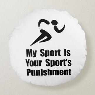 Running Punishment Round Pillow