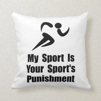 Running Punishment Throw Pillows