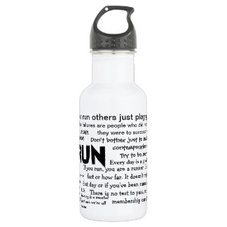 Running Quotes Bottle