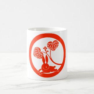 Running rabbit classic white coffee mug