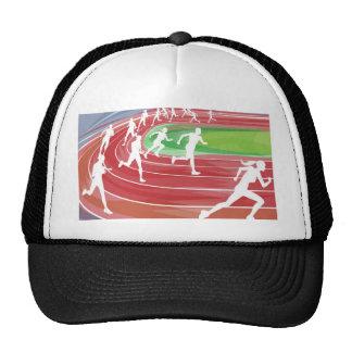 Running Race on Track Trucker Hats