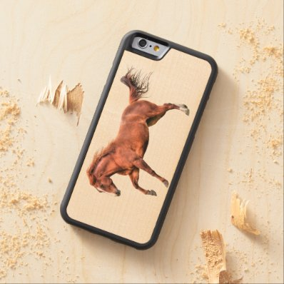 Running Red Dun Guardian Horse-lover Equine Design Carved® Maple iPhone 6 Bumper Case