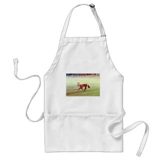 running red fox photograph adult apron